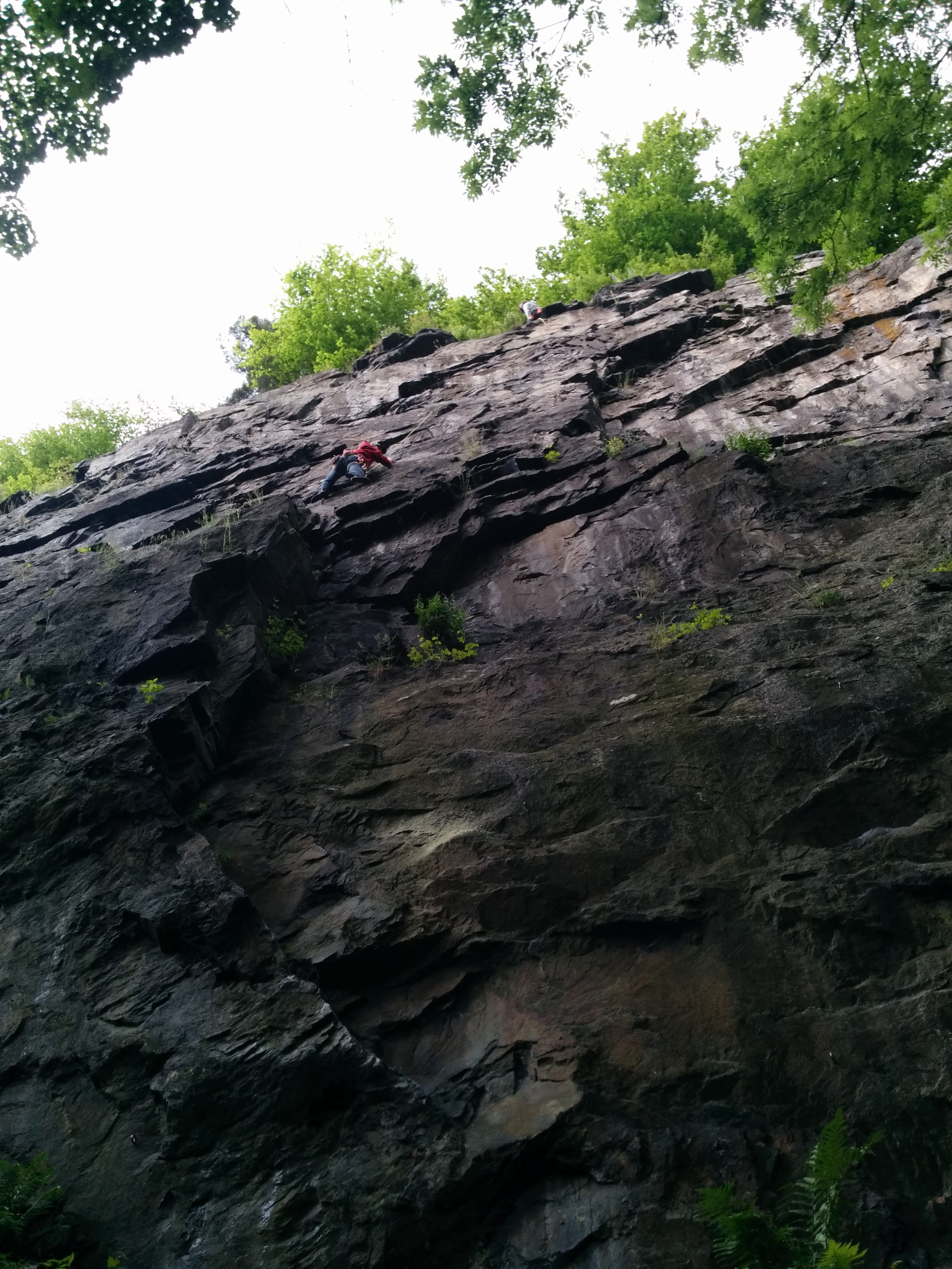 The first unsupervised belaying from top